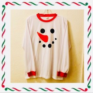 Ringer snow person long-sleeved t-shirt Size 10/12